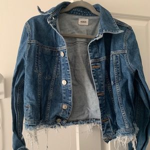 Hudson Ultra-Distressed Cropped Jean Jacket